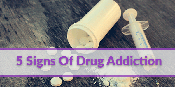 5 Signs of a drug addict